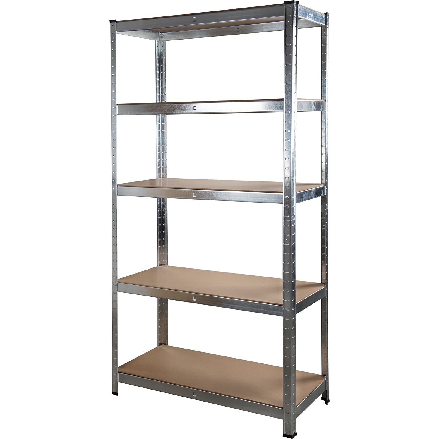 18m heavy duty 5tier metal boltless shelving and racking 180cm x 90cm x 40cm amazoncouk kitchen u0026 home - Metal Shelving Unit