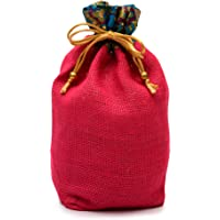 Minimal Affairs Color-Pop Yellow Natural Jute Potli Bag for Wedding, Diwali Gift Pouches, Gift Bags for Return Gifts…