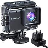 Crosstour Action Cam CT9500, 4K/50FPS 20MP WiFi EIS Stabilizzata Videocamera, Fotocamere Subacque Impermeabile 40M, 2 Batteri