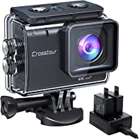 Crosstour Action Cam CT9500,4K/50FPS 20MP WiFi EIS Stabilizzata Videocamera,Fotocamere Subacque Impermeabile 40M,2…