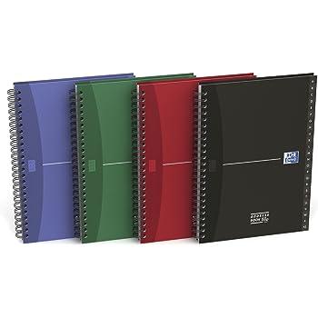 Quattro Colori Adressbuch A5 schwarz Spiralbindung Taschen-Organizer