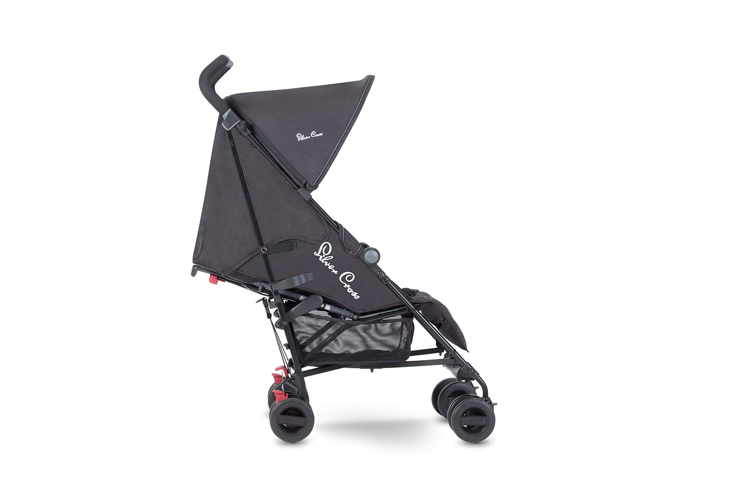 Silver Cross Zest Charcoal Black Silver Cross Ultra lightweight zest pushchair, weighing in at only 5.8kg, is suitable from birth up to 25kg It has a convenient one-hand fold, while the compact design makes it easy to store The fully lie-flat recline is best in its class 2
