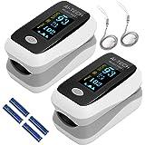 2 Pezzi Saturimetro da dito sensore di saturazione di ossigeno e polso cardiofrequenzimetro di colori diversi con OLED displa