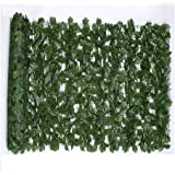 1x3m Wall Artificial Ivy Leaf Hedge Screening Roll Artificial Privacy Fence Screen Faux Ivy Leaf Screening Hedge for Outdoor