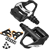 TacoBey Road Bike Pedals Cleats Set for Shimnao SPD Clipless Pedals, Lightweight Self-Locking Cycling Pedals for Shimnao 105