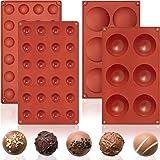 2 Pièces Set de Moules en Silicone à Dôme Moule à Dôme de Grand Semi-Sphérique à 6 Cavité et Moule à Chocolat de Mini Demi-Sp