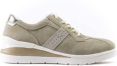 Valleverde 17148 Sneakers Suede SINT Beige Scarpe Donna Estive Zeppa Cm 5,5