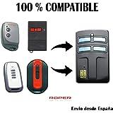 Mando Garaje Universal HR Multi 2 Compatible con Roper MANDOS Puertas PORTON COCHERA