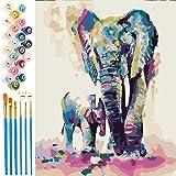 EXTSUD Pintura por Números para Adultos y Niños, Dibujos para Pintar con Números, DIY Pintura al Óleo por Números Decoración