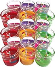 Cocodoes Glass Small Pencil Candle, 2.5 x 2.5 (Multicolour, SMALL-PENCILCANDLE-18PC) - Set of 18