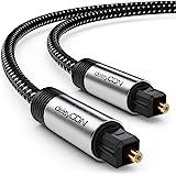 deleyCON 5m Toslink-Kabel Optische Digitale Audiokabel met Metalen Stekker & Nylonmantek - SPDIF Optische Vezelkabel