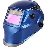 FIXKIT Masque de Soudage Electrique avec 4 Capteurs Optiques,Grand Champ de Vision-100*56mm,Protection UV:16 Etapes(Foncé: DIN 5-9,9-13),pour Toutes Les Applications de Soudage,1 + 5 Lentilles
