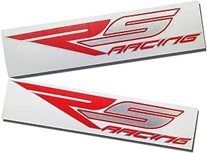 Aprilia Rs Racing Rot Und Silber Chrom Design Grafik Aufkleber Aufkleber X 2 Auto