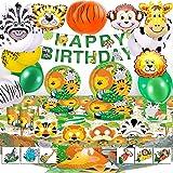 Bea's Party Decoracion Fiesta cumpleaños niño Safari Party Safari Decoracion cumpleaños Selva Safari Globos Animales de la Se