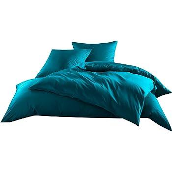 Mako Satin Baumwollsatin Bettwäsche Uni Einfarbig Zum Kombinieren  (Kissenbezug 80 Cm X 80 Cm