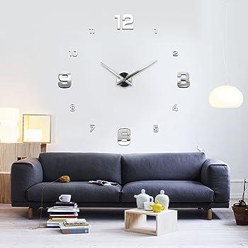 pearl uhr zum aufkleben 1 meter xxl design wanduhr zum aufkleben wanduhr kleben. Black Bedroom Furniture Sets. Home Design Ideas