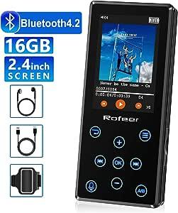 16GB MP3 Player Kinder mit Lautsprecher FM Radio Voice Recorder 2.4 Zoll TFT Bildschirm Speicher Erweiterbar bis 128 GB CFZC Tragbar Bluetooth MP3 Player mit Kopfh/örer mit Kopfh/örer, Sport Armband