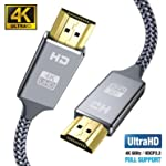 4K HDMI Cable 2M HDMI Lead-Snowkids Ultra High Speed 18Gbps HDMI 2.0 Cable 4K@60Hz Compatible Fire TV, 3D Support...
