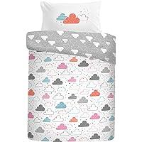 Cosatto: 100% Cotton Cot Duvet Cover and Pillowcase Set - 90cm x 120cm (Fairy Clouds - Multi)