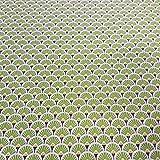 Stoff Meterware Baumwolle grün Kreis Fächer beschichtet