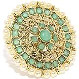 Zaveri Pearls Ring for Women (Green) (ZPFK9147)