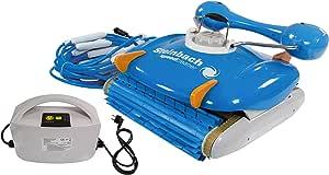 Steinbach Schwimmbadreiniger RX5, für Pools bis 72 m² Grundfläche, vollautomatisch, 18m Kabellänge, 230 V Anschluss, 15,5 m³/h, blau, 061018