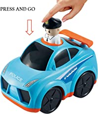 Baybee Infunbebe Unbreakable Press and Go Police Car Toy for Baby Development, Educational Toys for Toddlers