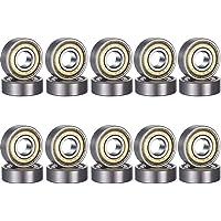 Cuscinetti a sfera mini 608zz, in metallo, doppia protezione 8 x 22 x 7 mm, 20 pezzi