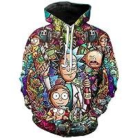 Chaos World Felpe con Cappuccio Uomo 3D Funny Cartoon Felpa con Stampa Hoodie Unisex Pullover Sweatshirt