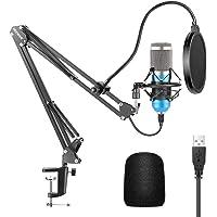 Neewer Microfono a USB 192KHz/24Bit Plug & Play da Computer Cardioide a Condensatore (Blu) con Professionale Audio…