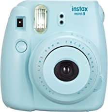 Fujifilm Instax Mini 8 Instant Point and Shoot Camera (Blue)