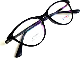 Blue Block 100% UV 400nm Harmful rays protection Branded High Quality lenses with anti-glare coating full protection against computer / mobile / flurocent light harmful rays - with new look branded rectangular / oval / cat eye / spectacles frames for men & women stylish | women fashion | eye frames | eyeglass | eyewear spectacle for men & women - SPRING SUPPORTED