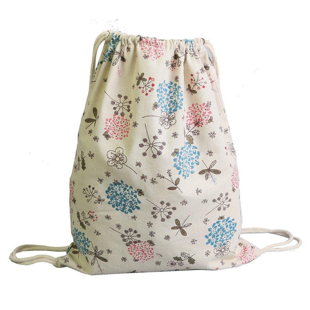 Laat coulisse zaino borsa di tela a tracolla da viaggio borsetta in cotone lino zaino College vento