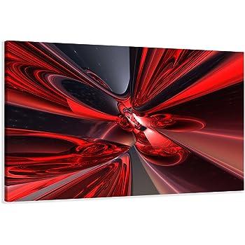 Abstrakt rot auf Rahmen Wandbild Visario Bild 5137 Bilder Leinwand