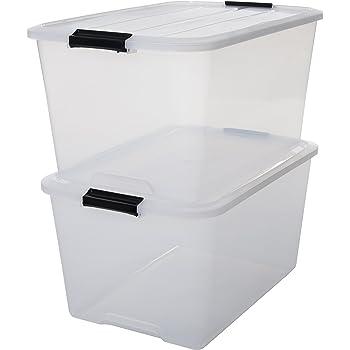 ikea samla box 45 liter aufbewahrungsbox k che haushalt. Black Bedroom Furniture Sets. Home Design Ideas