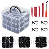 Locisne Auto Retainer Clips, 635 stks 16 Types Auto Trim Clip Plastic Bevestigingsmiddelen Kit Schroef Pin Snap Klinknagel Cl