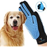 SR SUREADY [Newest] Two-Sided Pet Grooming Pet Grooming Gloves - Dog, Cat Bathing Scrubber Gloves - Pet Hair Remover Gloves -
