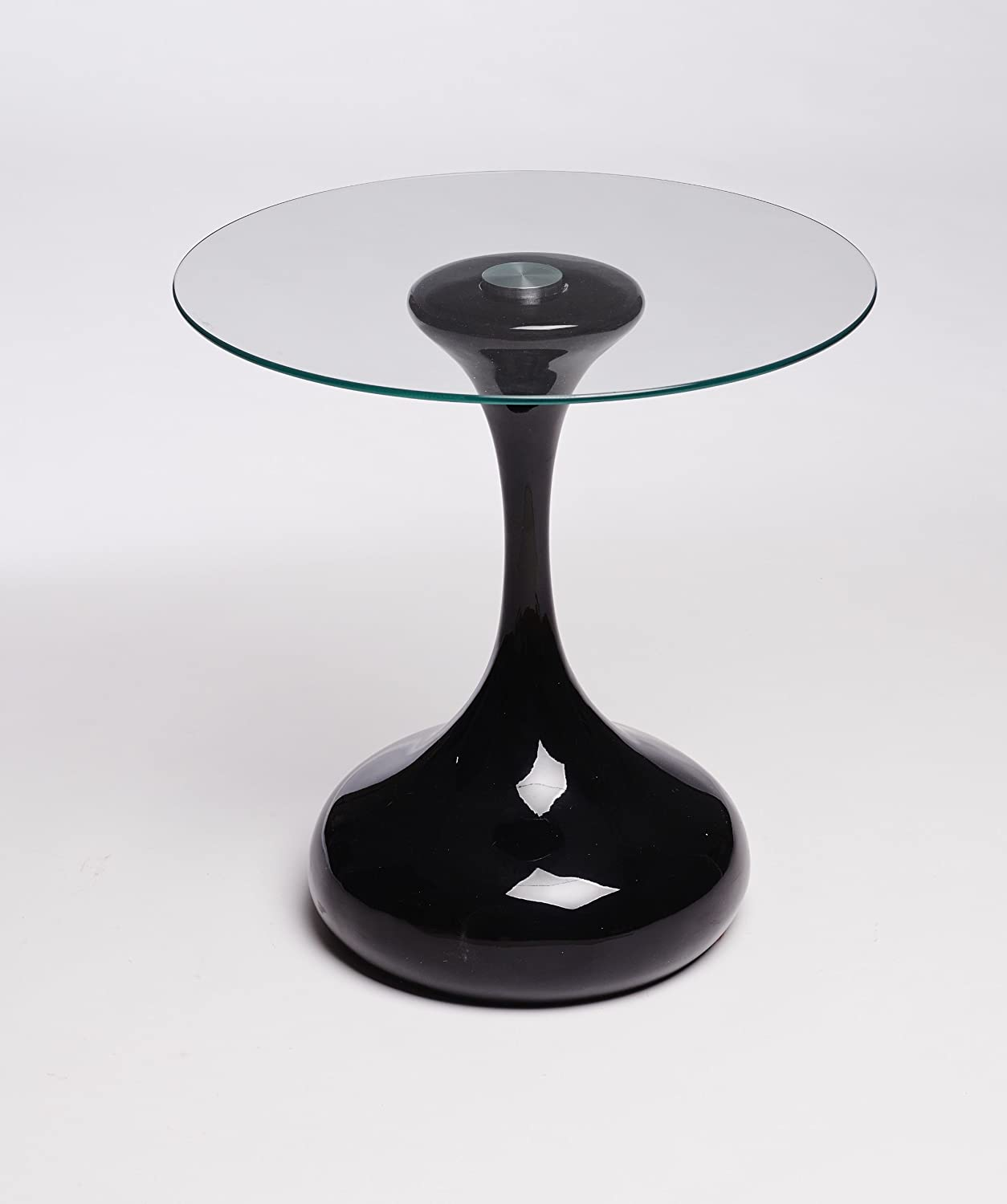 Designer hour glass round side table end table lamp table black designer hour glass round side table end table lamp table black amazon kitchen home mozeypictures Gallery