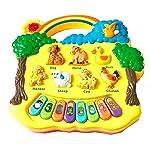 Vivir Kids Lights and Musical Animal Farm Piano Keyboard