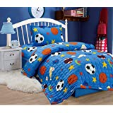 Compressed Comforter 3 Piece Set For Kids Single Size, Balls