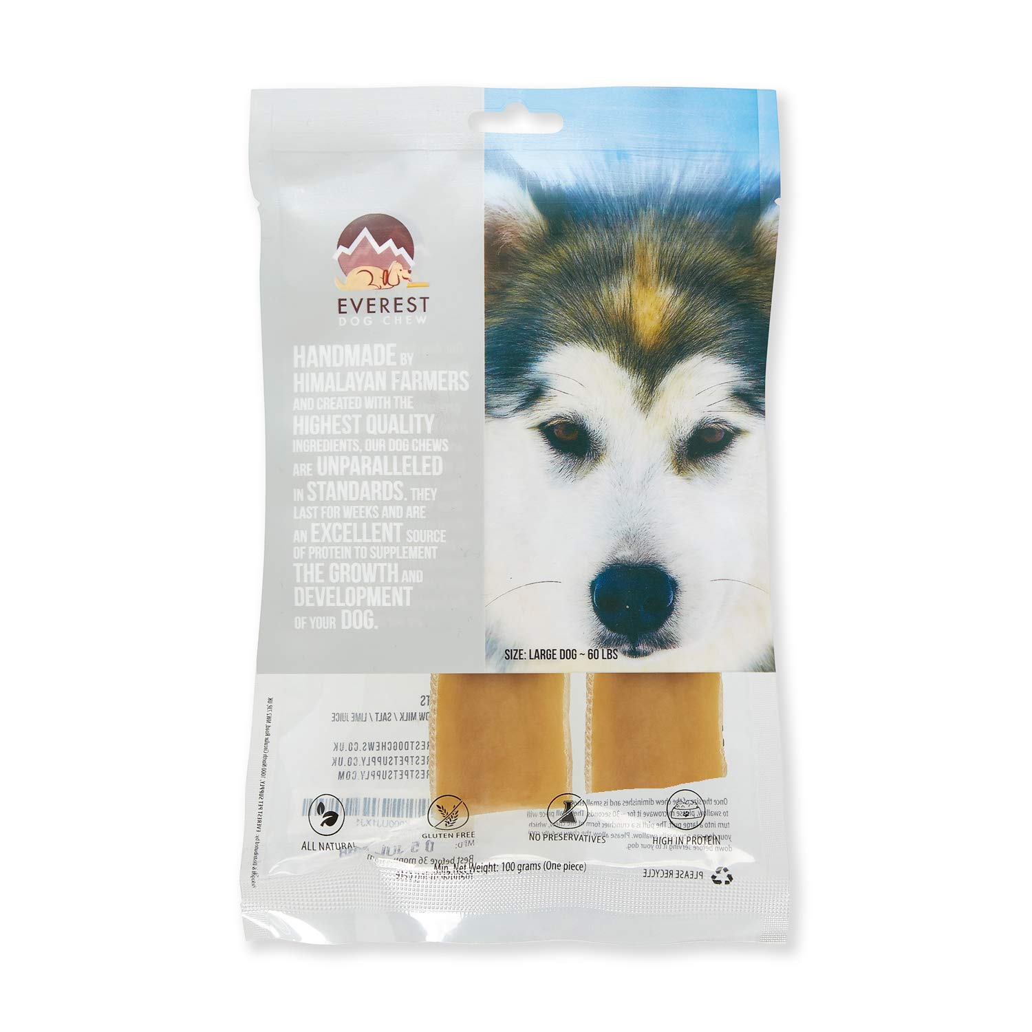 LARGE Yak Chew x 2 value pack, Everest Yak Chews (Large Dogs)