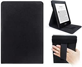 WALNEW Vertikale Flip Hülle für Kindle Paperwhite Magnetische Auto Sleep/Wake Funktion, Cover mit Handriemen Amazon Kindle Paperwhite- Nicht geeignet für Modelle der 10. Generation 2018
