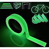 Gebildet Glow in the Dark Zelfklevende Tape,Groen Licht Lichtgevende Tape Sticker,32.8ft×0.8 inch (10m*2cm):Waterdicht, Verwi