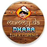 TheYaYaCafe Birthday Gifts for Mom Mummy Da Dhaba Fridge Magnet - Round