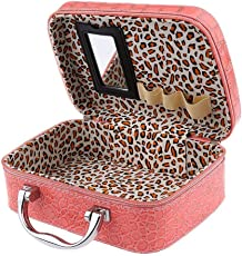Makeup Box by ShoppoZone | Cosmetic Box | Toiletry Box Organizer with Magnifying Compact Makeup Mirror (Multi-Colour)