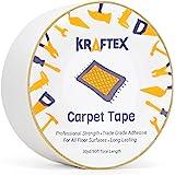 Dubbelzijdige tapijttape 90ft / 30Yrd-rol Heavy Duty voor vloerkleden, matten, kussens en lopers. Tape voor hardhouten vloere