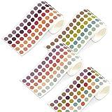 TANAKEY Washi Tape, 4 Rouleaux rubans adhésifs ronds autocollants colorés DOTS autocollants DIY Stickers Bandes Random Couleu