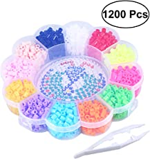 1200PCS DIY 12 Color 5 MM Funny Hama Beads Craft Beads Colorful Fuse Beads Kit for Kids