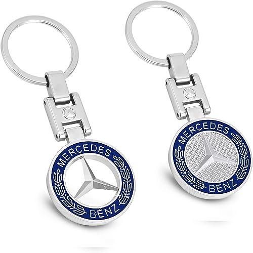 MIKAFEN Portachiavi tridimensionale in metallo dotato di ciondolo con stemma dell'auto, portachiavi con logo della marca dell'auto per BMW, Mercedes Benz, VW, AUDI