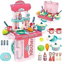 Gopinath Trade™ 3 in 1 Kitchen Suitcase for Kids Mini Kitchen Play Set Portable Cooking Suitcase Toys Mini Kitchen Play…